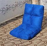 JBHURF Multifunktionsfazilität faul Sofa einzelnen Stoff Sofa zusammenklappbar (Farbe : Blau, größe : Durchschnittlicher Code)