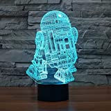 R2D2-B 3D Illusion Lamp 24.2*14.7*8.8cm