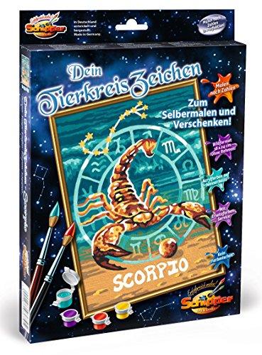 Preisvergleich Produktbild Noris Spiele Schipper 609390679 - Malen nach Zahlen - Tierkreiszeichen Skorpion, 18 x 24 cm