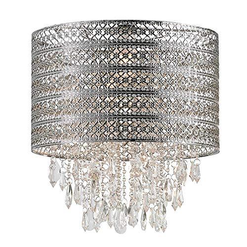 Majestueux 1 lumière Tambour Abat-jour lampe suspendu