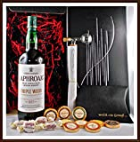 Geschenk Laphroaig Triple Wood Whisky + Flaschenportionierer + 10 Edel Schokoladen von DreiMeister & DaJa + 4 Whisky Fudge kostenloser Versand