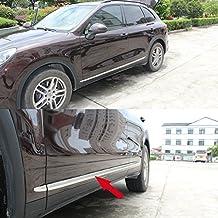 Generic cuerpo de acero inoxidable puerta lateral Moulding Trim superposición para funda para Porsche Cayenne
