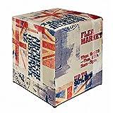 Kaikoon Pouf Cube Imprimé Go Drapeau 35cm x 35cm x 42cm