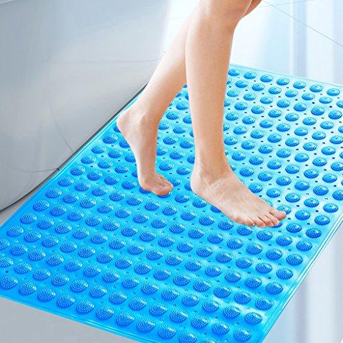 Liling 58 * 90 cm große größe Bad Rutschfeste Matte Bad dusche mit Sauger fuß pad wc bodenmatte (Color : Blue) - König Matratze Beschützer
