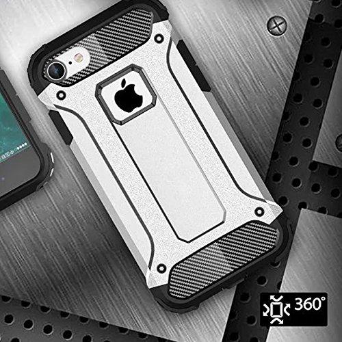 KIO iPhone 7Custodia–[angoli rinforzati] Heavy Duty protezione Custodia Morbido in gomma & Hard PC Cover flessibile Shock Absorption ammortizzatori per iPhone 7 iPhone 7 P-6 P-6