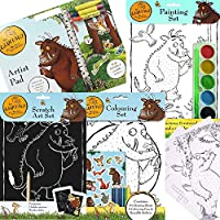 BARGAINS-GALORE THE GRUFFALO ART & CRAFTS COLOURING PAINTING SCRATCH STICKER BOOKS FUN KIDS TOY