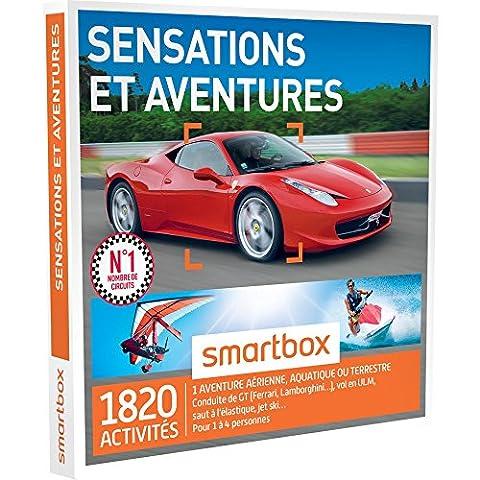 SMARTBOX - Coffret Cadeau - SENSATIONS ET AVENTURES - 1820 activités : conduite de GT (FERRARI, LAMBORGHINI, PORSCHE), vol en ULM, rafting