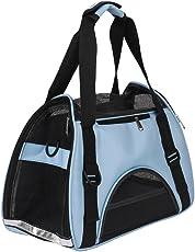 ITODA Haustiertasche Tiertragetasche Transporttasche für Hunde Katzen Kaninchen Tragetasche Haustier Reisetasche Wasserfest Transportbox mit Netzfenster Reise Hundetasche Reiseträger Katzentasche
