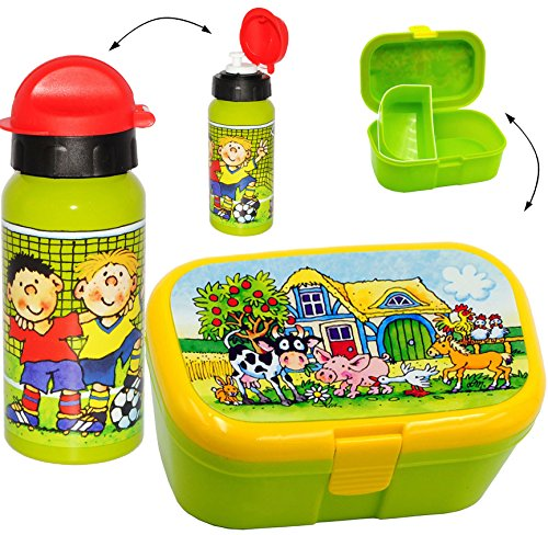 2 tlg. Set _ Lunchbox / Brotdose & Trinkflasche -