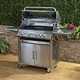 Fire Mountain Premier Stainless Steel 4 Burner Gas Barbecue with Free Gas Regulator and Hose
