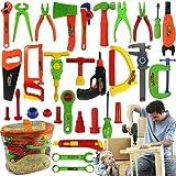 FEIDAjdzf Kinder-Spielzeug für 1 2 3 4 5 6, für Kinder, Spielzeug, Werkbank, Werkstatt, Werkzeugkasten für Kinder, Kleinkinder, Jungen und Mädchen