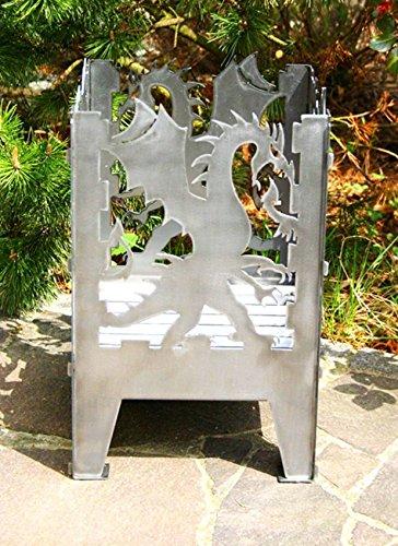 Feuerkorb Modell' Drache' Feuerstelle Größe XXL Feuersäule aus Stahl