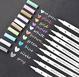 Confezione da 10colori metallici Marker Penne per DIY album fotografico di biglietti