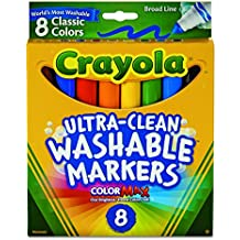 Crayola Broad Line Washable Markers-Classic Colors 8/Pkg
