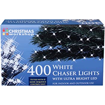 the christmas workshop 500 led chaser string lights bright white benross group 77560