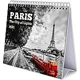 Grupo Erik Calendario da Tavolo 2021 Parigi, calendario da scrivania 2021, 20 x 18 cm