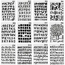 CCMART Plantilla de plástico con número de letras y símbolo alfabeto para planificador/agenda/