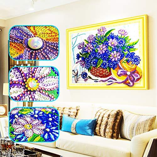 Askong 5d special-shaped trapano diamante dipinti home wall decorato con strass a punto croce kit da ricamo artigianale diy art craft flower basket 11.8x15.7inch flower basket