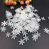 #6: Ocamo 300pcs/Pack Throwing Confetti Christmas Decoration Fake Snowflake Handmade DIY Material