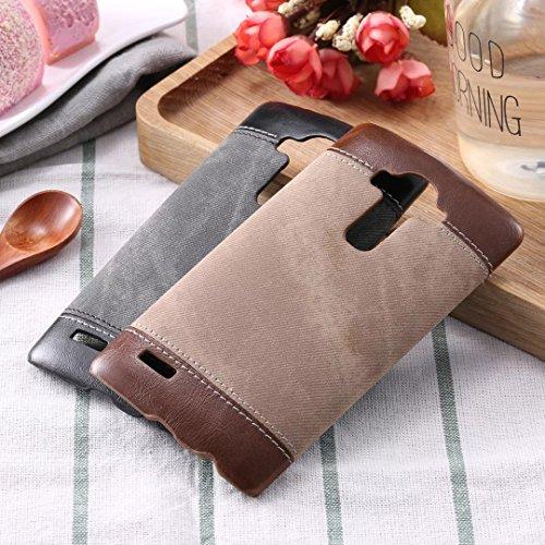 LG G4 Case Cover, Cowboy Jeans Textur Muster Hartleder Kunststoff Rückseite für LG G4 ( Color : Black , Size : LG G4 ) Brown