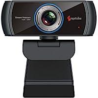Angetube HD Gaming Webcam 1080P con Microfono, Webcam USB PC Streaming Webcam con videochiamate Widescreen e Supporto…
