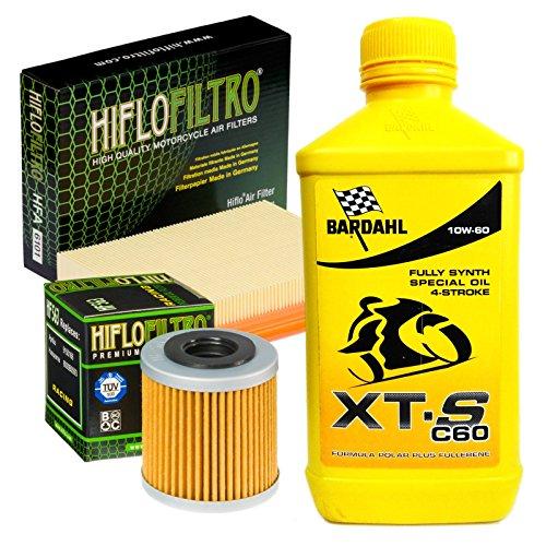 KIT TAGLIANDO BARDAHL XTS 10W60 FILTRO OLIO ARIA PER APRILIA SXV SUPER MOTO 550 2006/2014