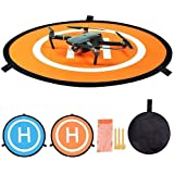 MatSailer drone landing pad 55cm/21.65in Universal Waterproof Foldable drone helipad for RC Drones Helicopter, DJI…