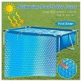 JSxhisxnuid Pool Cover rechthoekig zwembad dekzeil stofdicht waterdicht opvouwbaar dekzeil zonnefolie voor rechthoekig frame Pool 300×200cm