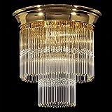 Kolarz Deckenleuchte Art Deco 24 Karat Gold Handarbeit,Made in Italy
