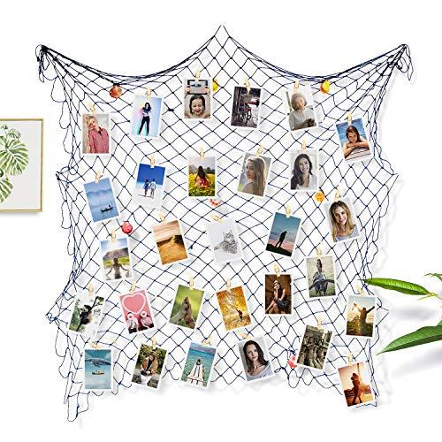 Sundell Marcos de Exhibición de Fotos, Familia Imágenes y Arte Exhibición, Decoración de Navidad de pare del Dormitorio Casero, Imagen Tarjetas Collage Artworks Organizador (Con 50 Clips & 20 Uñas)