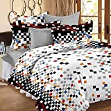#7: HighLife Premium Ahmedabad Cotton Double Bedsheet with 2 Pillow Covers - White
