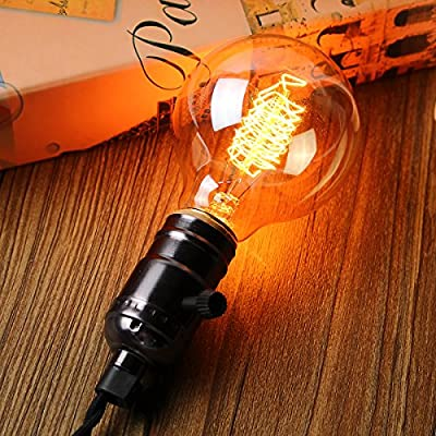 KINGSO 2X Edison Glühbirne E27 Retro Globe Glühlampe 40W G80 Vintage birne dimmbar Filament Fadenlampe Ideal für Nostalgie und Antik Beleuchtung Warmweiß von KINGSO