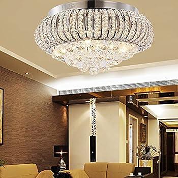Deckenlampen wohnzimmer modern  Dst Modern Round Transparent Geniune Crystal Glass Droplets ...