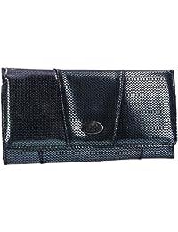 b26151724a Portafoglio donna CHARRO nero modello soffietto apertura bottone VA2074