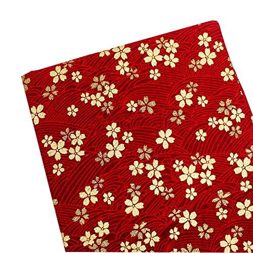 East Utopia DIY Stoff DIY Vorhang Tischdecke Cheongsam Material Kirschblüten - Mouchoir Kostüm