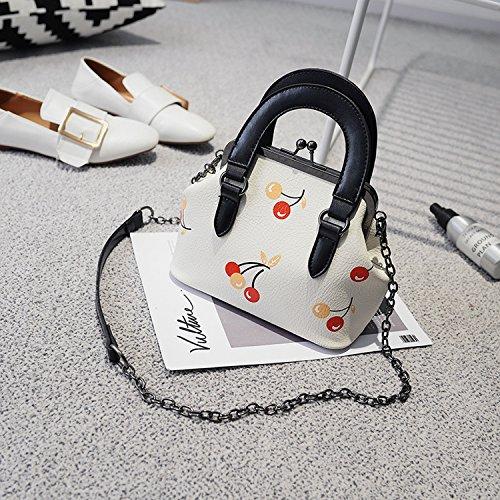Paket Weibliche Gedruckte Shell Handtasche Weibliche Tasche Kuriertasche Einfache Damen Schultertasche Weiß