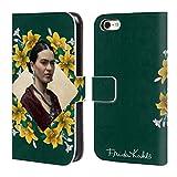 Head Case Designs Offizielle Frida Kahlo Gelbe Lilien Portrait 2 Brieftasche Handyhülle aus Leder für iPhone 5c