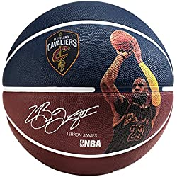 Spalding NBA Player Lebron James Sz.7 (83-349Z) Balón de Baloncesto, Azul (Marino/Burdeos), 7