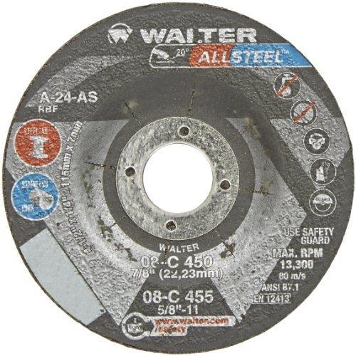 walter-allsteel-versatile-grinding-wheel-type-27-round-hole-aluminum-oxide-4-1-2-diameter-1-4-thick-
