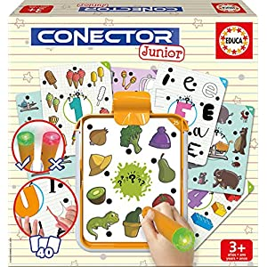 Educa- Conector Junior Primeros Aprendizajes: Aprende sobre Formas, Colores, números, lógica y asociaciones Juego Educativo para niños, a Partir de 3 años (17580)