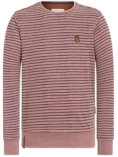 Naketano Male Sweatshirt Indifference Of Good Men II heritage bordeaux melange