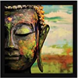 ArtX Paper Gautam Buddha Wall Art, Multicolor, Traditional, 13X13 in, Set of 1
