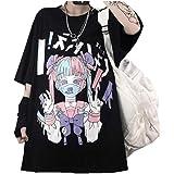 Black Sugar T Shirt da donna Kawaii Emo Punk gotico Goth Rock Hip Hop Giapponese Modello Large Top Maglione