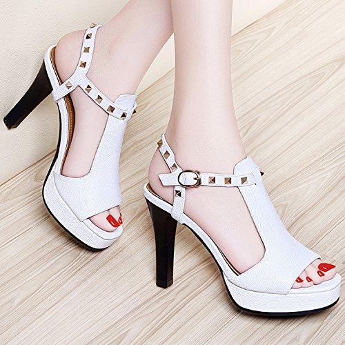 ZPPZZP La sig.ra sandali con raffinati in stile occidentale a tacco alto 38EU