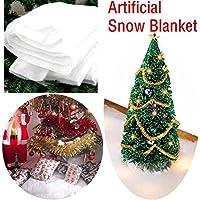 Bescita Snow Couverture Fausse Neige Crèche de Noël Blanc doux Couverture artificielle