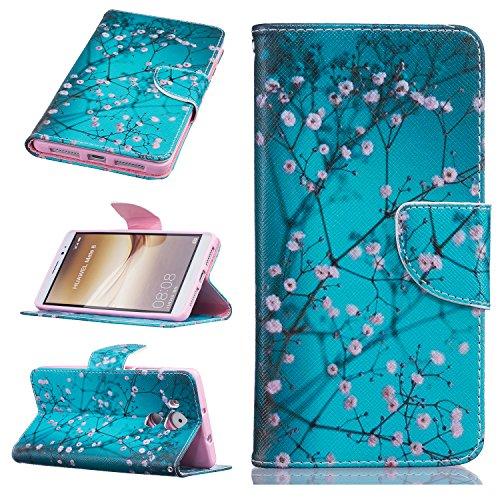 Preisvergleich Produktbild Huawei mobile phone skin protector accessories-Hülle aus Leder für Huawei Mate 8/Huawei Y3 ii/Y5 ii/Honor 5A/Y6 ii Telefone & Handys Zubehör (Huawei Mate8, Apricot flowers)