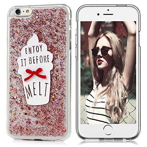 "MAXFE.CO TPU Silikon Hülle für iPhone 6 6S 4.7"" Handyhülle Schale Etui Protective Case Cover Rück mit Silber Design Skin Hell-lila"