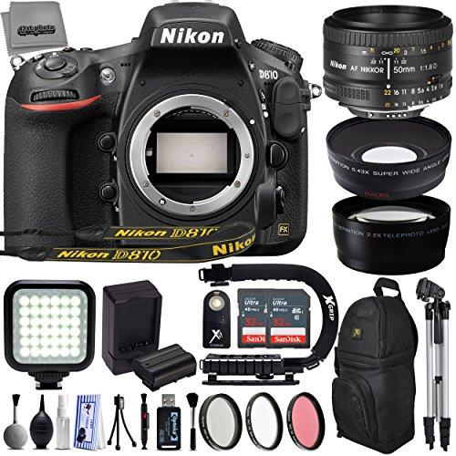 61j98P19AwL BEST BUY #1Nikon D810 36.3MP 1080P FX DSLR Camera w/ 3.2 LCD   7 fps   Wi Fi & GPS Ready   Pop Up Flash   Nikon 50mm 1.8D   64GB SD   3 Lens   21 PC ECO Kit price Reviews