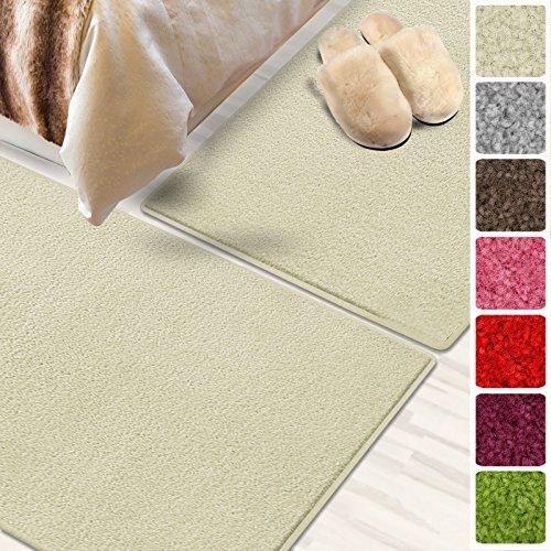 Bettumrandung Noblesse   3 teilig, mit flauschigem Flor   verschiedene Bettvorleger Sets   schadstoffgeprüft, mit GUT-Siegel   Läufer / Brücken / Teppiche für Schlafzimmer und Jugendzimmer