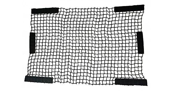 058 Universale Rete per Bagagliaio Bagagli Nero auto de Velcro 60 x 70 cm